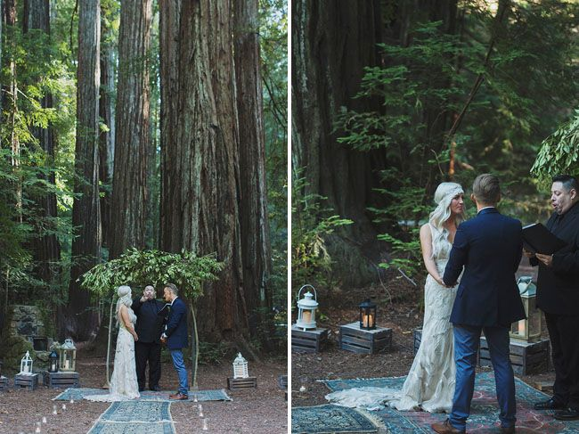 rustic bohemain wedding in the redwood forest ashley cheyne