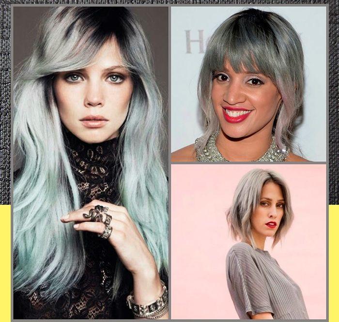 O que antes era um pesadelo para várias mulheres agora virou tendência, a cor que simbolizava o envelhecimento agora esta super na moda, cabelos cinza o famoso fio platinado está fazendo a cabeça de muitas mulheres. #cabelos #tendencias #coloracao #fios #look #hair #moda #cinza #platinado #loucasporcabelo #tutanat