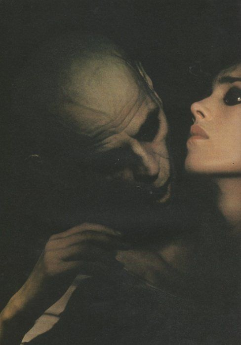 "Klaus Kinski and Isabelle Adjani in ""Nosferatu the Vampyre"", directed by Werner Herzog, 1979. (Original title: ""Nosferatu: Phantom der Nacht"" (Nosferatu: Phantom of the Night))"