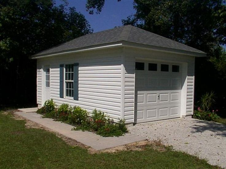 Inspiring small garage plans 1 small detached garage for Detached garage with carport