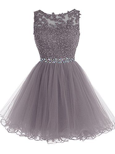 Tideclothes Short Beaded Prom Dress Tulle Applique Evening Dress Grey US2 Tideclothes http://www.amazon.com/dp/B018WWNO28/ref=cm_sw_r_pi_dp_SZLexb09YASK2