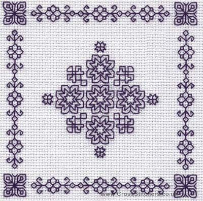 Snowflake - Holbein Embroideries Blackwork Kit