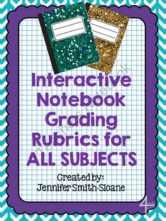 Interactive Notebook Grading Rubric (All Subjects) from 4mulaFun on TeachersNotebook.com (4 pages)  - Interactive Notebook Grading Rubric (All Subjects)
