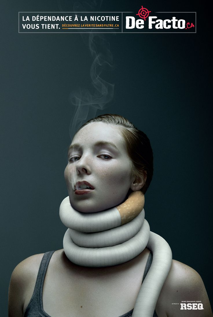 RSEQ / De Facto: Nicotine addiction - woman | Ads of the World™