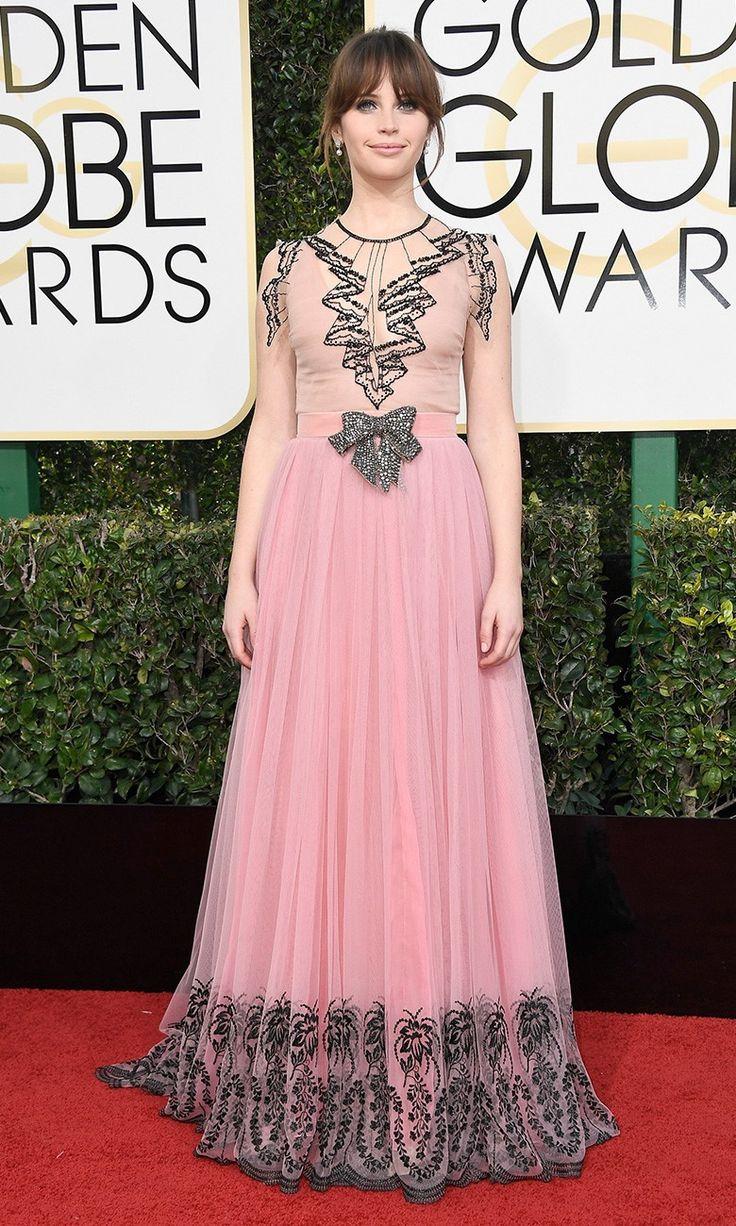 Фелисити Джонс на церемонии вручения наград премии «Золотой глобус» в Лос-Анджелесе, 08 января 2017 г.