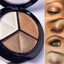 Maquiagem 3 Cores Paleta De Sombra Glitter Sombra de Olho Profissional Paleta Nu Sombra Pincel de Maquiagem Conjunto alishoppbrasil