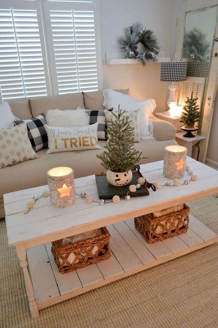 25 weihnachts-wohnzimmer-inspirationen: weihnachtsdekor