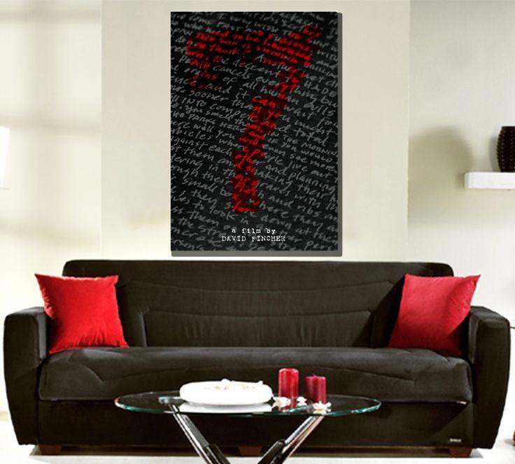 Seven Movie Poster by Scar Design  #movieposter #sevenmovieposter #se7en #se7enposter #davidfincher #bradpitt #buymovieposters #cinema #cinephile #cinemagifts #moviegifts #bestmovies #serialkiller #kevinspacey #minimalmovieposter #typography #typographyposter #redbubble #scardesign11