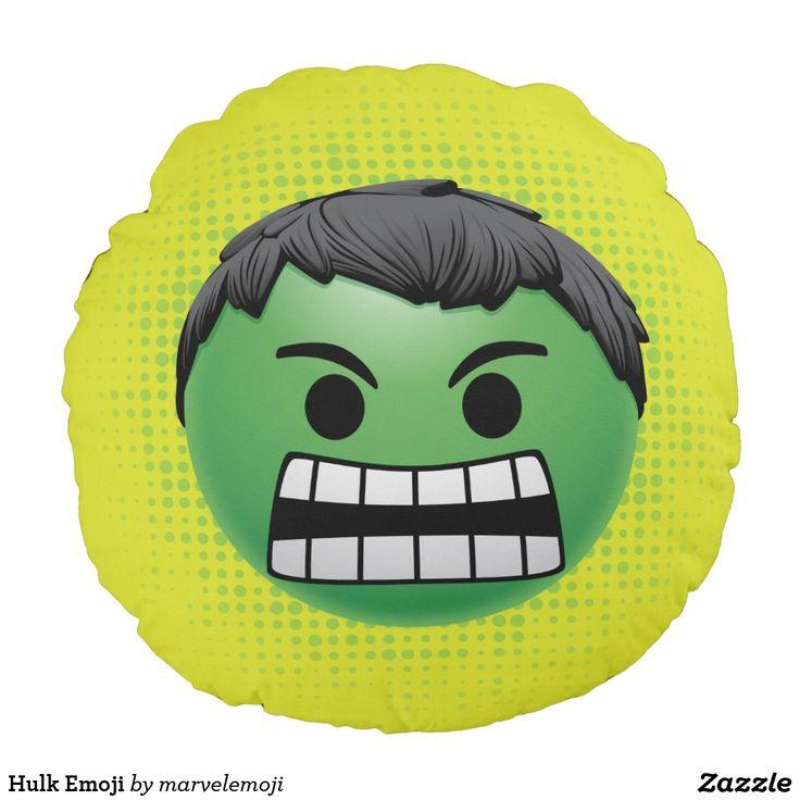 Hulk Emoji. Producto disponible en tienda Zazzle. Decoración para el hogar. Product available in Zazzle store. Home decoration. Regalos, Gifts. #cojín #pillows