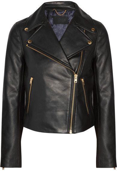 J.Crew - Leather Biker Jacket - Black