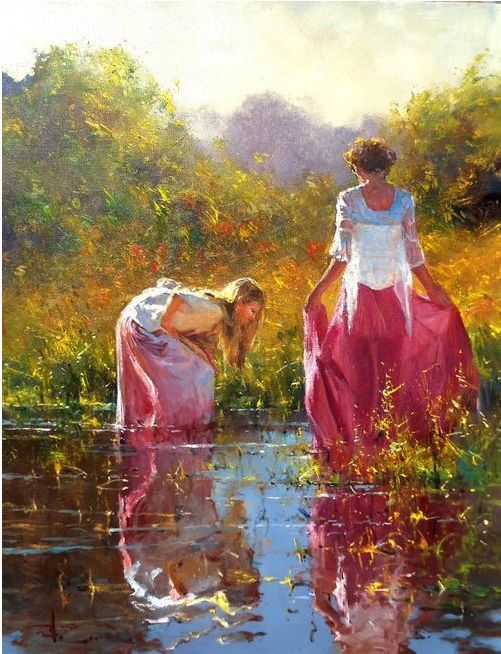 Robert Hagan Australian Artist / There is such amazing light and luminosity in his paintings.