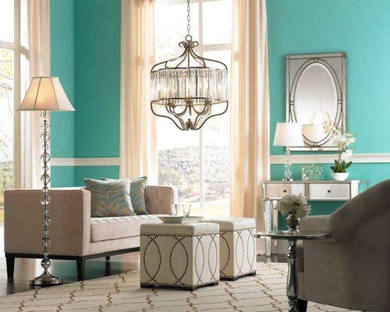 Living Room Tiffany Blue Design, Pictures, Remodel, Decor and Ideas - page 3