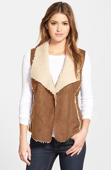 Caslon® Faux Shearling Vest (Regular & Petite) available at #Nordstrom                                                                                                                                                                                 More