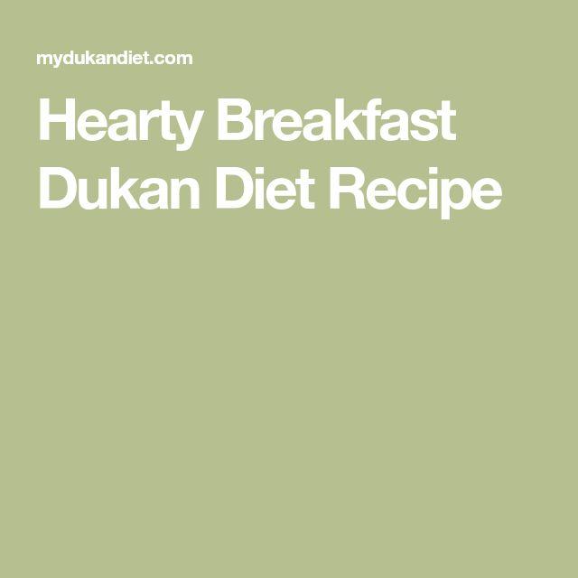 Hearty Breakfast Dukan Diet Recipe