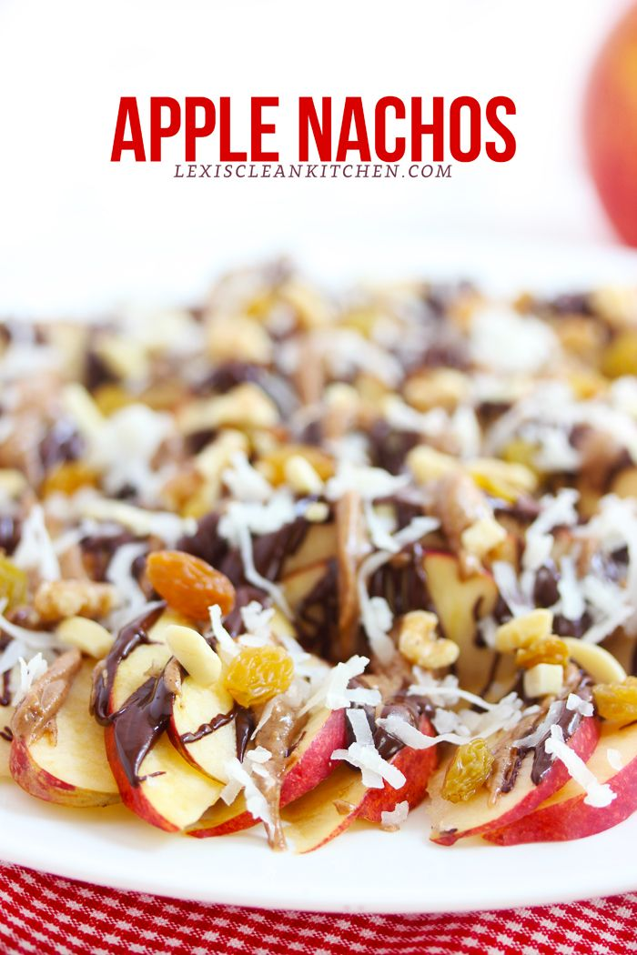 Apple Nachos + apple recipes for the fall from Lexi's Clean Kitchen