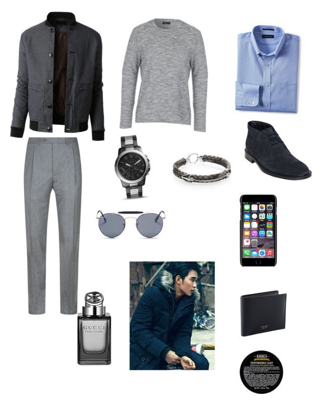 """""""Sin título #277"""" by carolinaramirez-1 on Polyvore featuring LE3NO, Canali, Lands' End, Tod's, FOSSIL, StingHD, Dolce&Gabbana, Ray-Ban, Kiehl's y Gucci"""