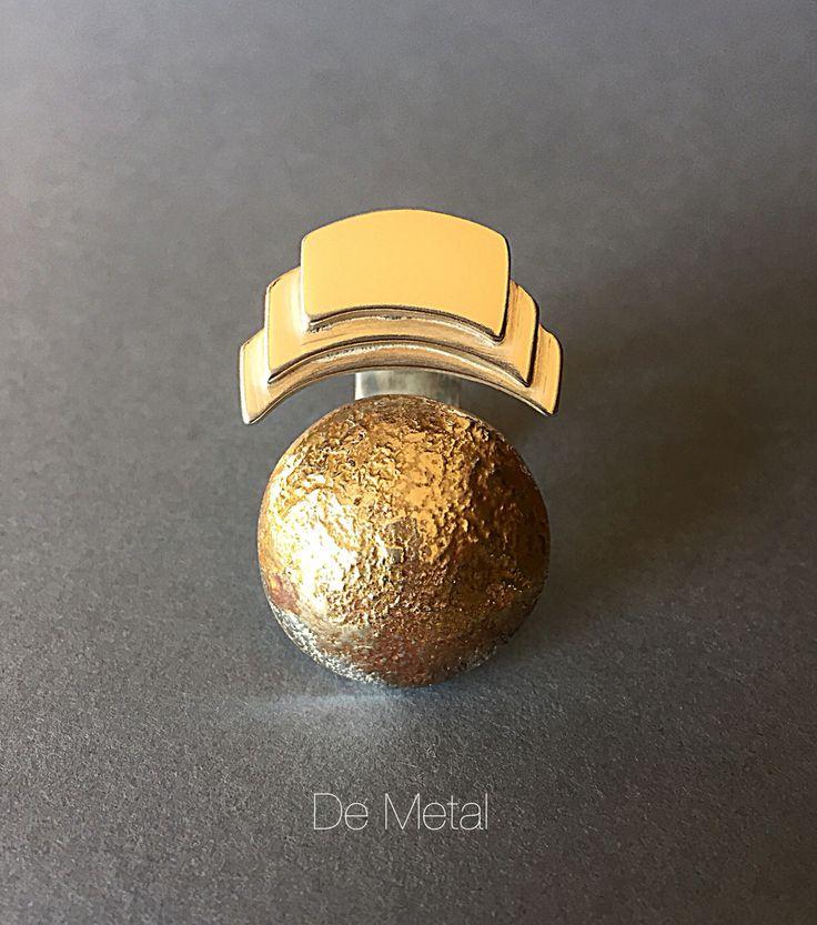 Ring ..... Silver and gold plate (joyería de estudio)