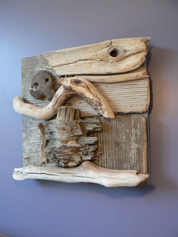 Driftwood wall art, Driftwood art, Rustic home decor, Home decor, beach home decor, Wedding gift idea, Cottage chic
