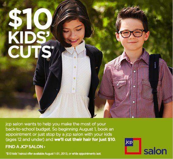 JCPenny Salon $10 Kids Cuts
