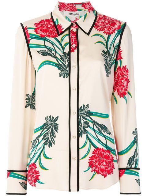Dvf Diane Von Furstenberg Oriental print shirt