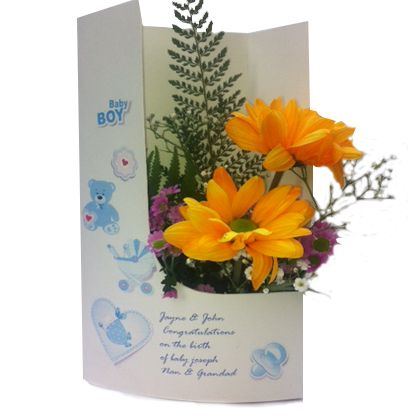 Its a boy flowercard