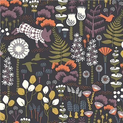 2782-1452 - Visby Black Scandinavian Wallpaper - by A-Street Prints