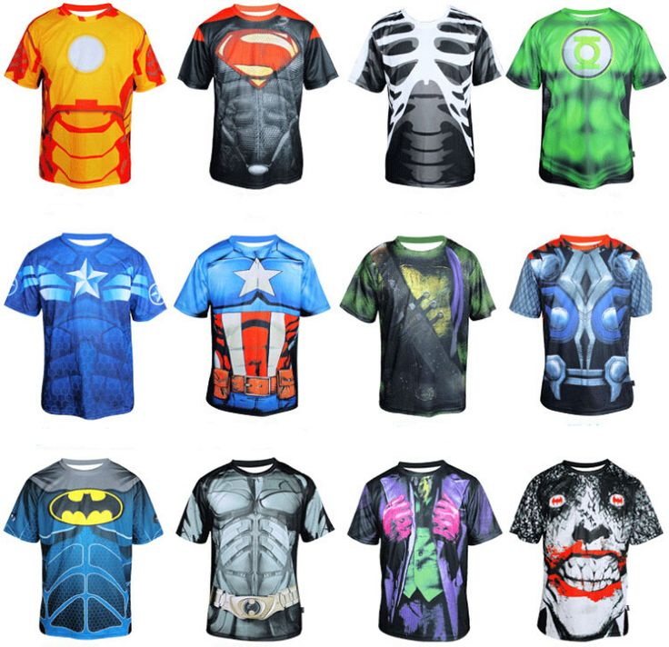 Men cycling short sleeves jersey sports bike bicycle T Shirt Clothing Batman Superman Thor Ironman Spiderman Captain America-in Sports Jerseys from Sports & Entertainment on Aliexpress.com | Alibaba Group