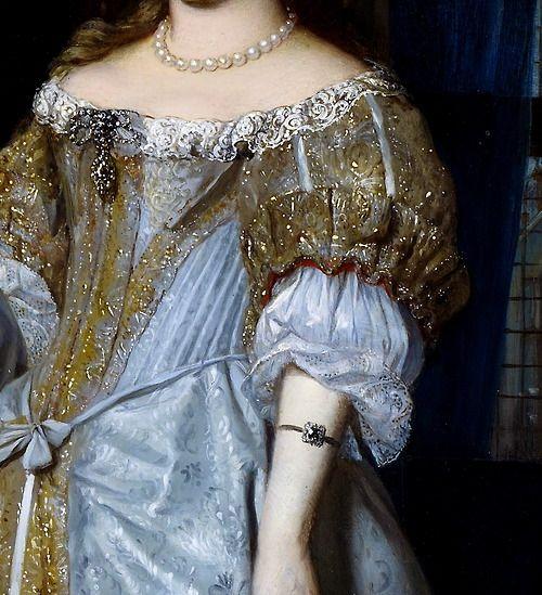 """Portrait of a Lady"" (1667) (detail) by Gabriël Metsu..."
