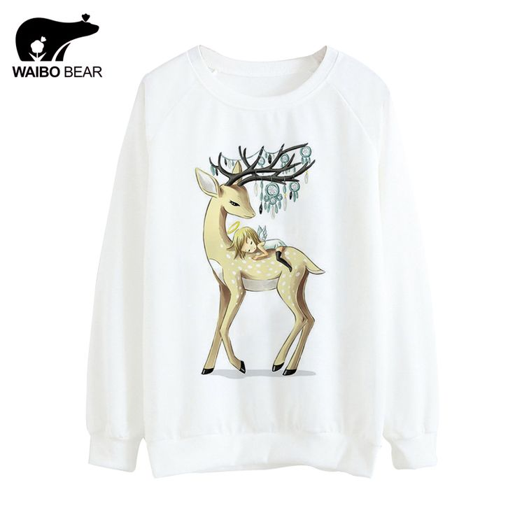 Hot Tracksuit Women Thin Hoodies Cute Deer And Angel Print Pattern Hoody Round Neck Sweatshirts Sudaderas Like and Share if you agree! http://www.lady-fashion.net/product/hot-tracksuit-women-2017-thin-hoodies-cute-deer-and-angel-print-pattern-hoody-round-neck-sweatshirts-sudaderas-waibo-bear/ #shop #beauty #Woman's fashion #Products