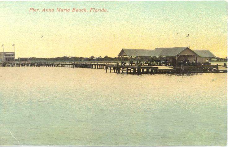 1900 39 s postcard anna maria city pier http www for Anna maria island fishing pier