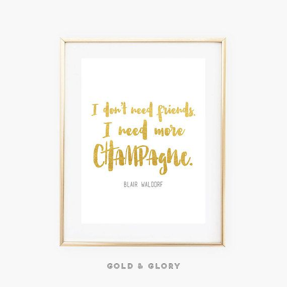 Citation de Blair Waldorf  Citation de par goldandglorydesign