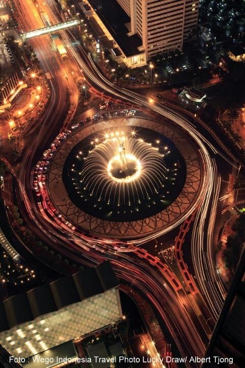 The famous Jakarta's landmark, Bundaran HI. Located between Sudirman CBD and Thamrin CBD.