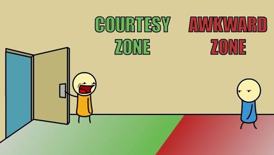 Courteous vs. Awkward
