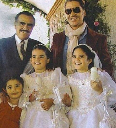 Vicente Alejandro Fernandez at his daughters first holy communion