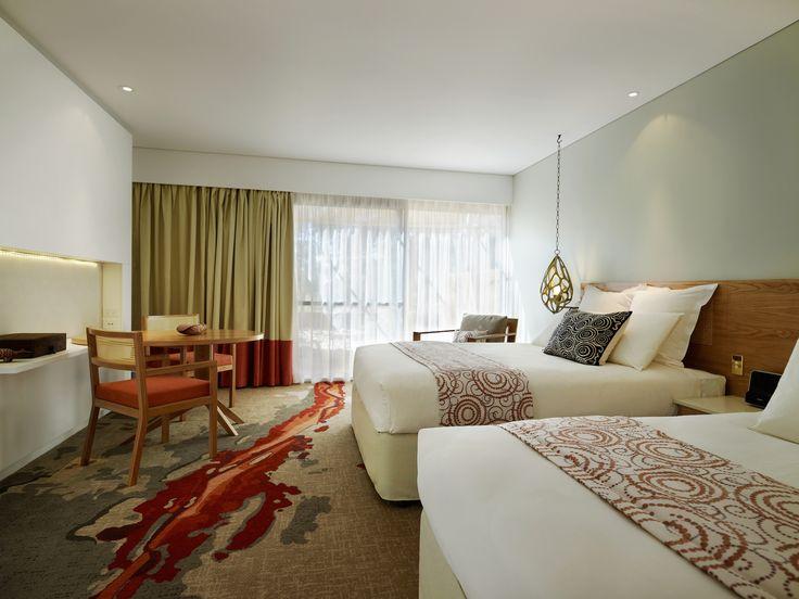 Rooms mix local and modern design #UniqueSleeps #SailsintheDesert #Luxury #Uluru #Australia #NorthernTerritory