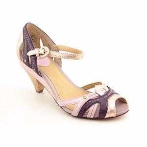 Frye Agnes Woven Womens Size 9 Purple Purple Mul Pumps Leather Open Toe Shoes