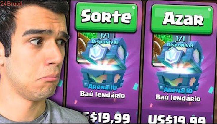 TIVE SORTE OU AZAR? COMPREI 2 BAÚS LENDÁRIOS POR 100 REAIS!! CLASH ROYALE