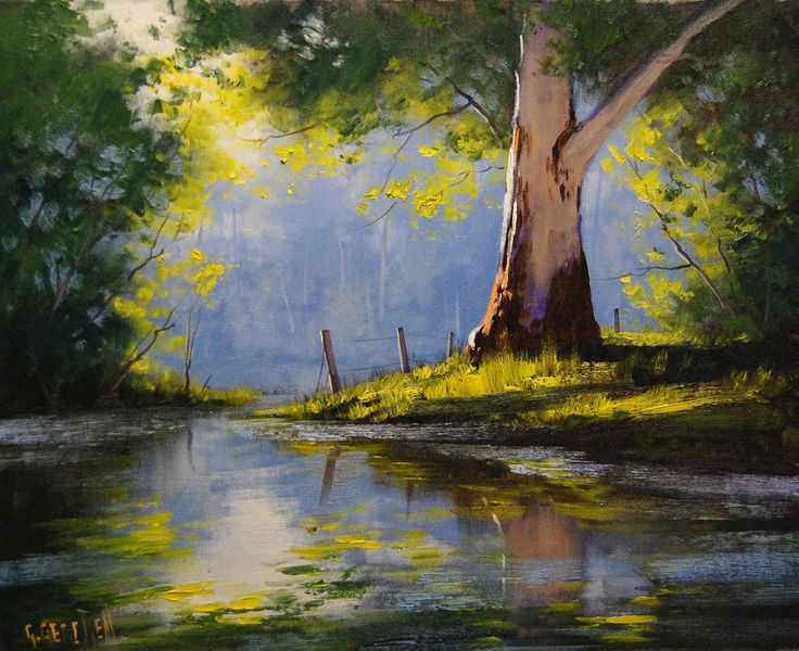 Predominantly self taught he chose oil paints as his medium and painted wet into wet, which is the style of the impressionist artists and lends itself best for outdoor painting.