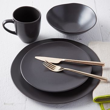 Scape Dinnerware Set - Cocoa : black dinner plates set - pezcame.com
