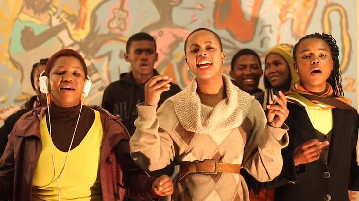 Qongqothwane is a cover of a famous Xhosa click song performed at weddings. In it, you can hear click consonants found in two language groups in southern Africa. Here's a nice overview.
