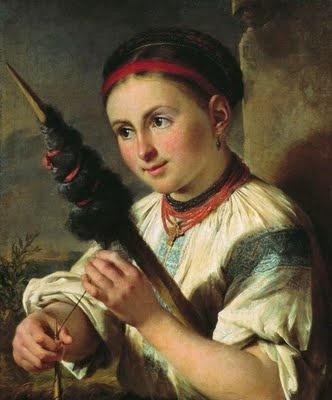 Vasily Tropinin (Russian artist, 1776-1857) Spinner