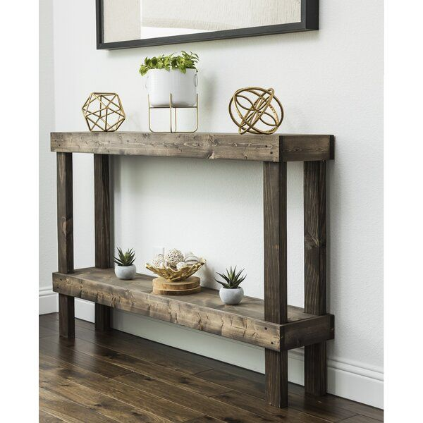 Dunlap Solid Wood Console Table Rustic Console Tables Rustic