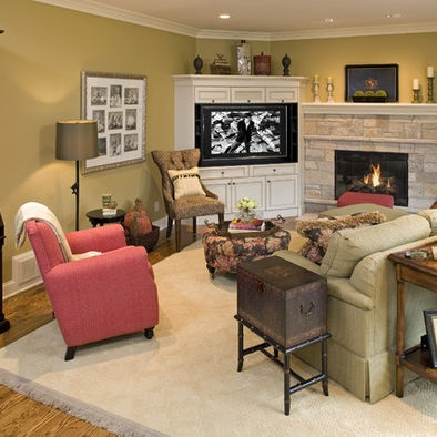 living room layout ideas with tv tvs brick fireplaces and corner tv on 24456