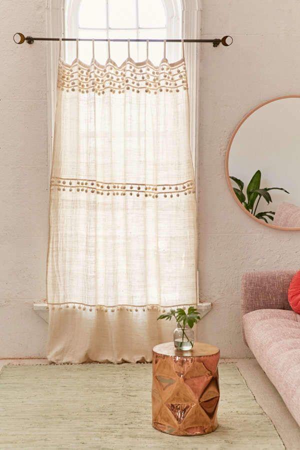 Averi Pompom Gauze Window Curtain In 2020 Window Curtains