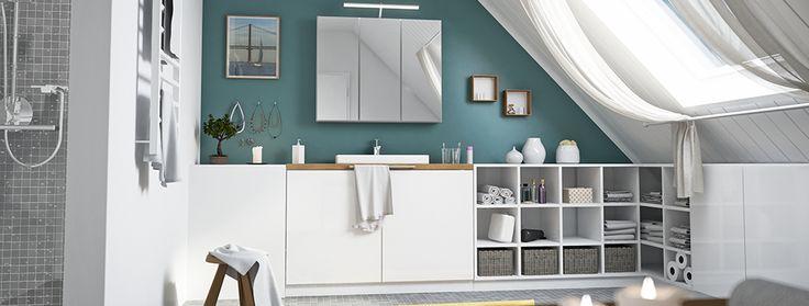 13 besten Badezimmer Bilder auf Pinterest Deins, Möbel nach maß - küche mit dachschräge planen