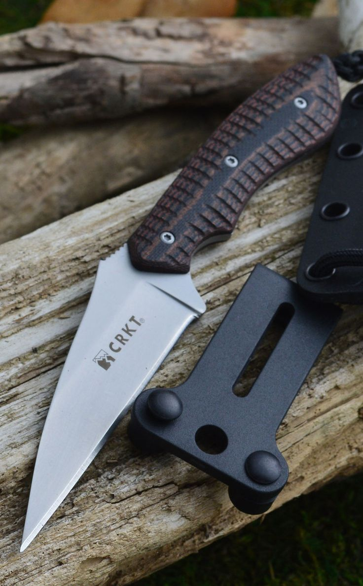 Columbia River Knife and Tool CRKT 2388 Folts S.P.E.W Fixed Blade Razor Edge Neck EDC Knife
