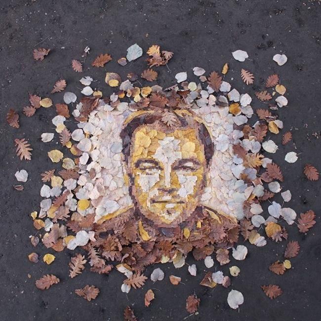 Yaprakları Ünlülerin Portrelerine Dönüştüren Sanatçıdan İlgi Çekici Eserler Sanatlı Bi Blog 13