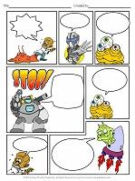 comic book esl lesson plan worksheet