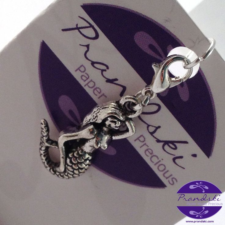 Tibetan silver clip-on charm for link chaincharm bracelets. posing mermaidcharm with silver plated clip on clasp.Can also be clipped to key rings, handbags, purses, etc.     • Tibetan si...