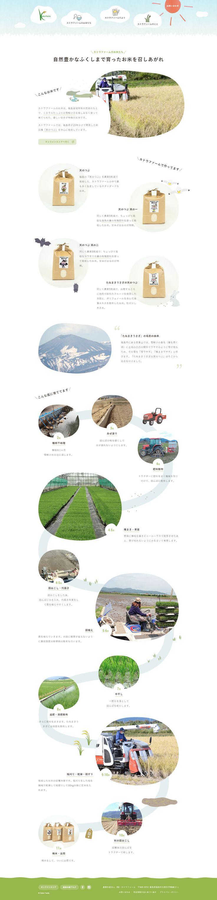 カトウファームのお米たち 福島の米農家 カトウファーム #WebDesign